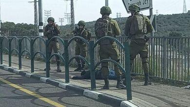صورة استشهاد شاب فلسطيني بزعم محاولته تنفيذ عملية طعن قرب اريئيل