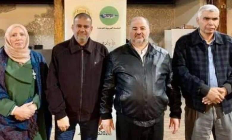 صورة حزب القائمة العربية الموحدة التابع للحركة الإسلامية برئاسة د. منصور عباس يهاجم حزب الجبهة