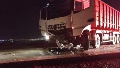 صورة مصرع الشاب احمد خليل أبو زايد 23 عاما بحادث طرق