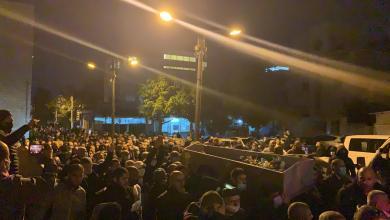 صورة جنازة ضحية جريمة القتل في يافا الشيخ محمد ابو نجم بمشاركة الالاف