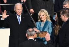 صورة بايدن يؤدي القسم رئيسا للولايات المتحدة