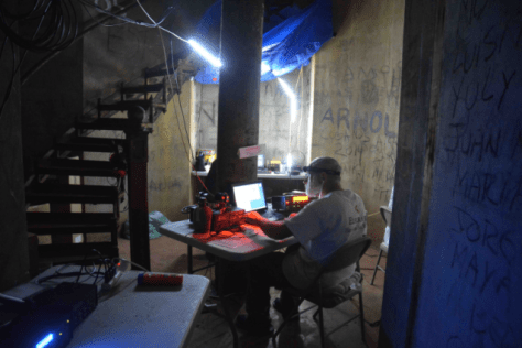 Lighthouse OP at night LED lighting (Photo: k1N DXpedition)