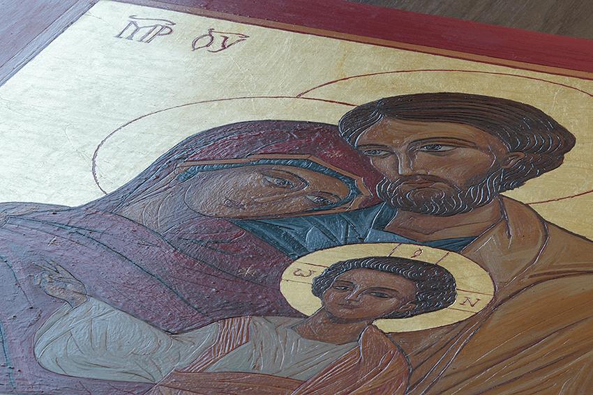 widoczny relief pozwala poznać prawdziwą ikonę