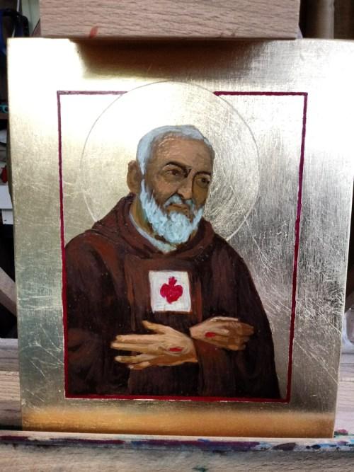 Trzeci etap piasnia ikony Ojca pio