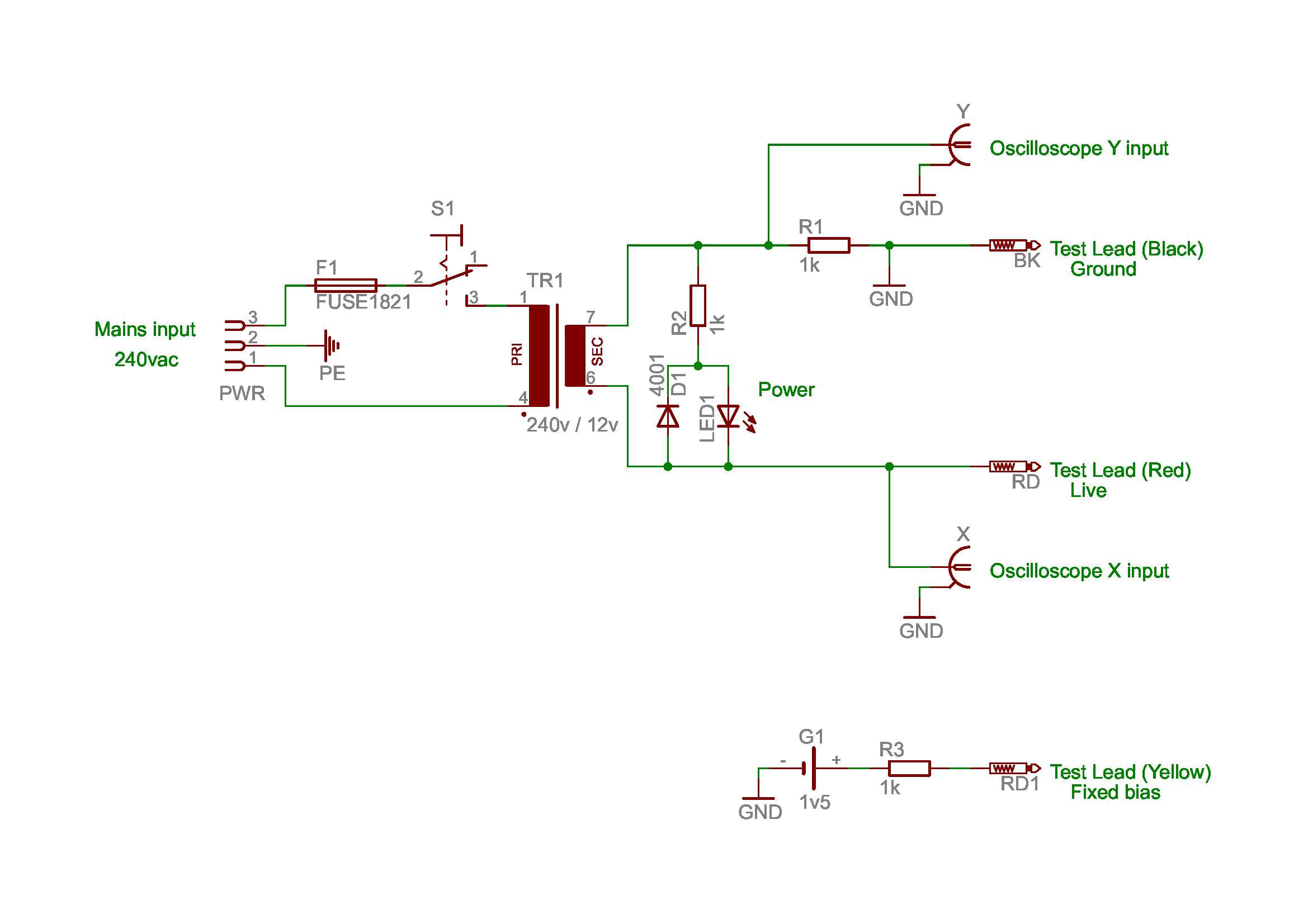 Omponent Tester Schematic