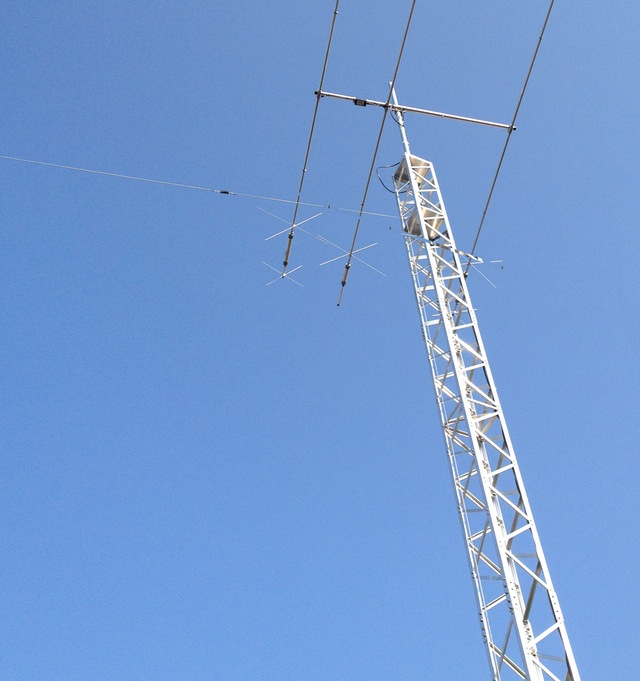 The view up the mast showing the end of the M0CVO OCFD