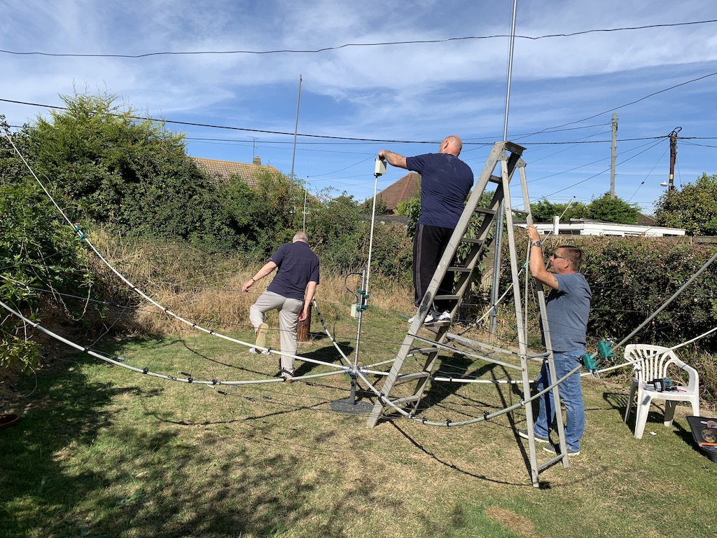 Terry, Paul and Colin working on the aerial