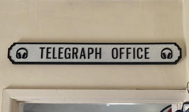 Telegraph Office shack sign