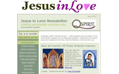 Invite a friend: Free newsletter on LGBTQ spirituality and the arts