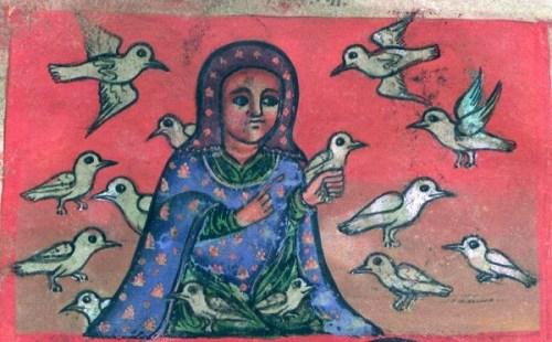 queer saint Walatta Petros receives souls as doves