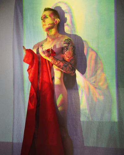 "Opening night performance at ""Scarlatta"" exhibit by Eureka (Michael O'Hanlon)"