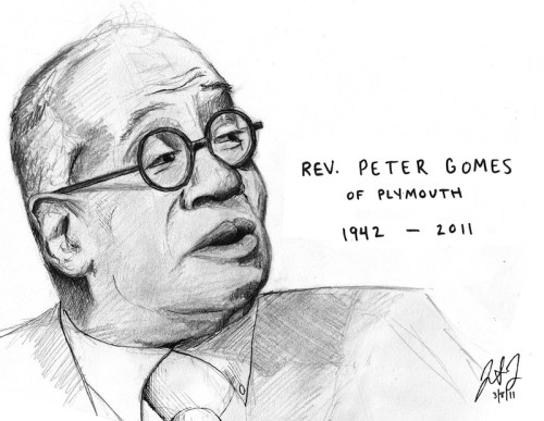 Rev. Peter Gomes of Plymouth by Jon Dorn