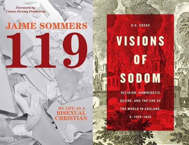 Book covers Visions of Sodom and 119 My Life as a Bisexual Chritian