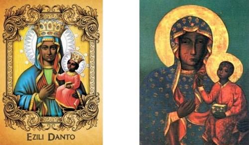 Erzuli Dantor and Black Madonna of Czestochowa