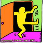 National Coming Out Day Logo by Keith Haring