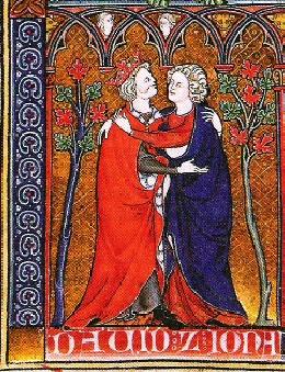 Jonathan and David embrace, 1300