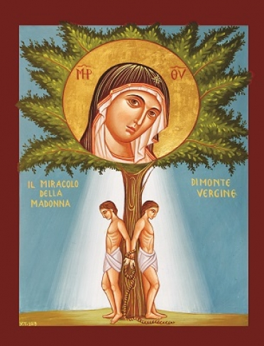 Milagro de Montevergine icono