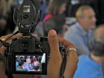 Media team at work. Photo: Gilbert Bel-Bachir.