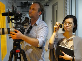 Jack McGrath (Conceptavision) and Q3 Symposium guest Nikita Chiu. Photo: Gilbert Bel-Bachir.