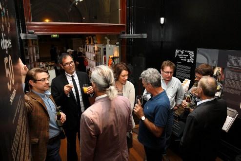 Q3 Symposium guests enjoying the reception. Photo: Gilbert Bel-Bachir.