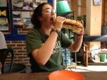 Veggie sandwiches in the QT office