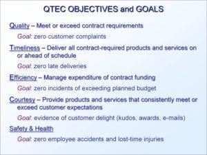 QTEC Objectives