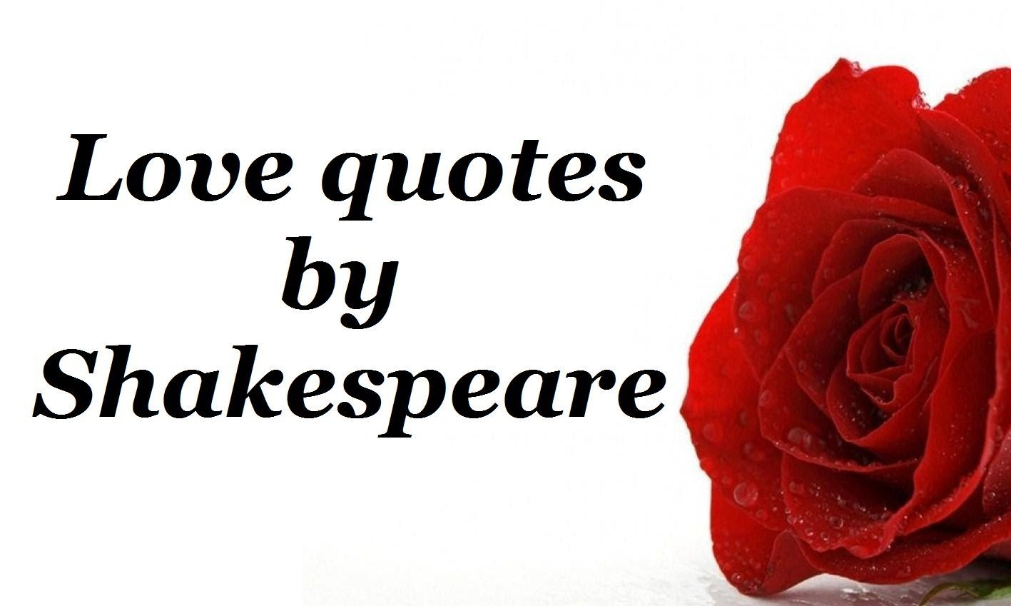Shakespeare Love Quotes And Sayings