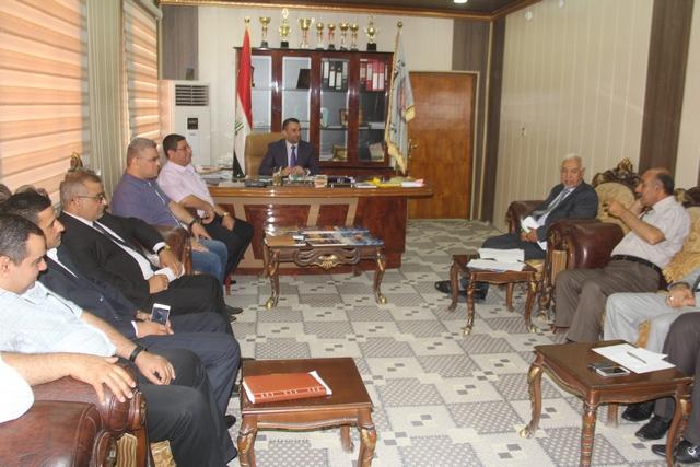 لجنة وزارية تقوم بزيارة كلية الطب البيطري / جامعة القادسية