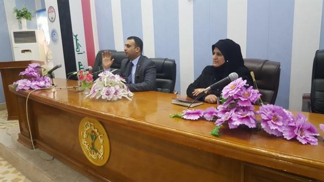 السيد عميد كلية الطب البيطري/ جامعة القادسية يلتقي طلبة المرحلة الخامسة