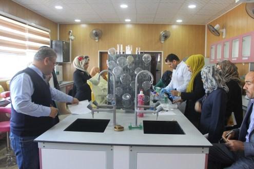 كلية الطب البيطري في جامعة القادسية تقيم دورة تدريبية علمية عن طريقة فصل البروتينات