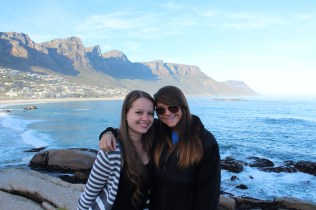 Chrystal and Michelle on Cape Peninsula Tour overlooking Clifton