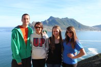 Bobby, Jazmin, Chrystal, & Michelle in front of Hout's Bay. Cape Peninsula Tour