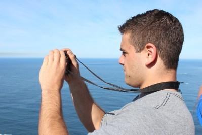 Ryan taking a photo at Cape Point. Cape Peninsula Tour