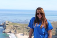 Michelle at Cape Point. Cape Peninsula Tour