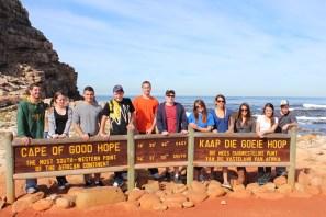 Class at Cape of Good Hope (L to R): Peter, Chrystal, Ryan, Vinny, Bobby, Evan, Michelle, Jazmin, Larisa, Emily, Mark