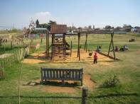 Playground built for the community across the street from Lebo's