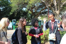 Tebogo & Livhuwani with QU301 South Africa students.