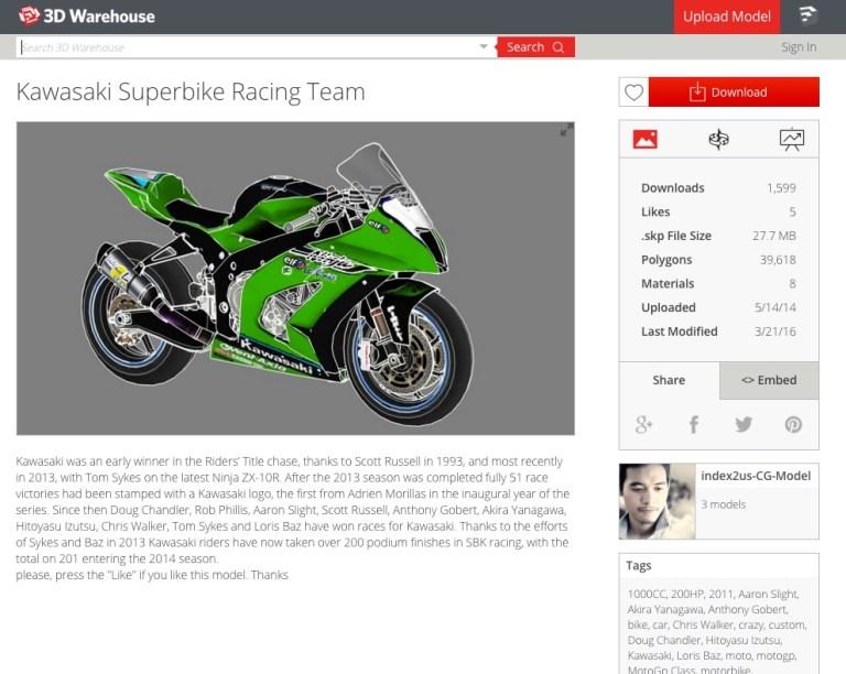 Kawasaki_Superbike_Racing_Team_-_3D_Warehouse