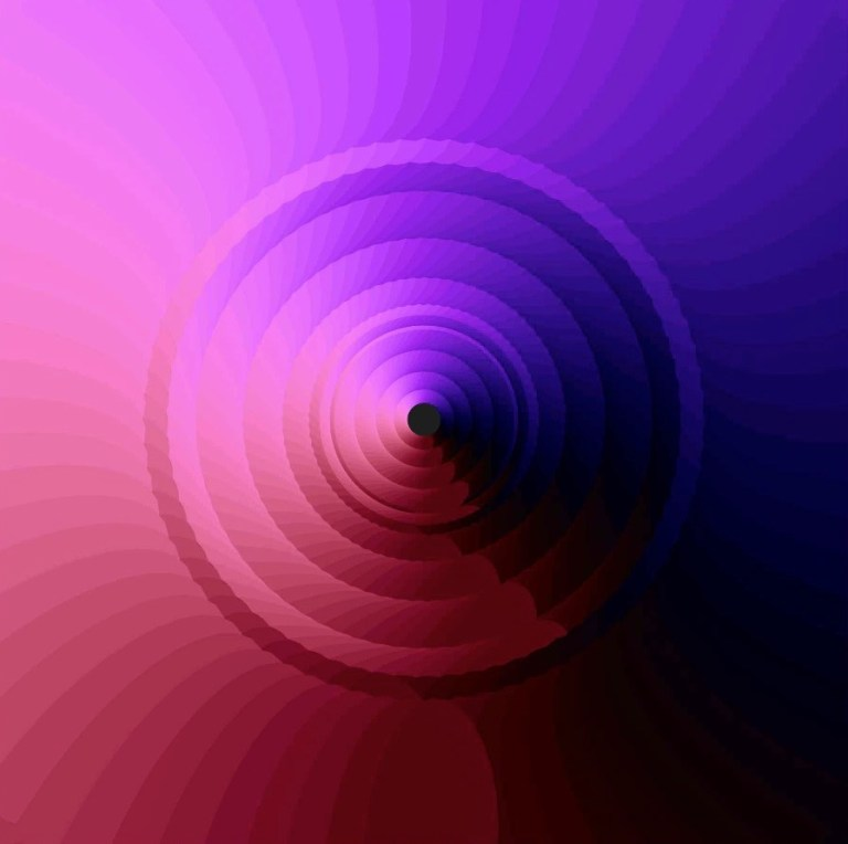 Radial eye patterns in processing