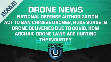 Drone News – National Defense Authorization Act to Ban Chinese Drones, Surge in Drone Deliveries.