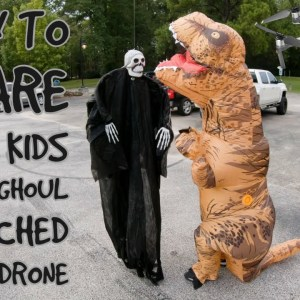 I try to scare some kids with a ghoul attached to my drone