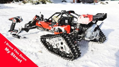It snowed! Time to take out the GAS Powered Toys!!!!   Insert evil laugh