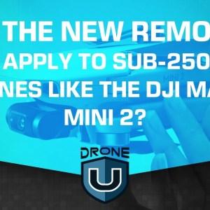 Will the New Remote ID Rules Apply to Sub-250 Gram Drones Like the DJI Mavic Mini 2?