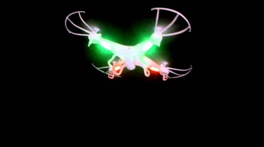 Syma X5C-1 Quadcopter Flying High in Night