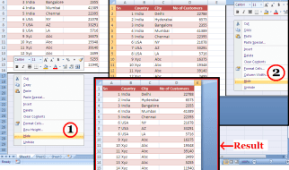 Hide Unused Rows and Columns Make your worksheet look neat