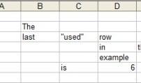 Last used row in a worksheet