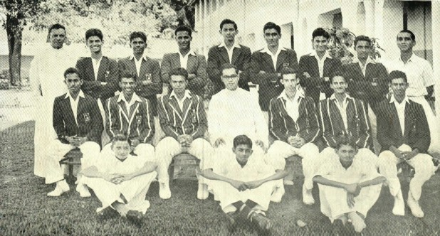 Left to right standing : Thilak Thalakada, Michael Landsberger, Gavin Stevens, V.A.Chin, Franco Burke, Michael Joseph, Muthalib, Tilak Pananwela, Nissanka Dunuville, Chandrasekeram. Seated fro left to right : Sweenie Mulholland, Franco Rudolph, Charlie Joseph( Capt) Pamunuwa (Wicket keeper) Tottie Premaratne. 5 of them have passed away. The next college captains are in this team. Muthalib 1961 , Dunuville 1962 and Mike Joe 1963.