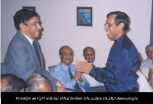 Franklyn Amerasinghe with his late brother Dr.A.R.B Amerasinghe