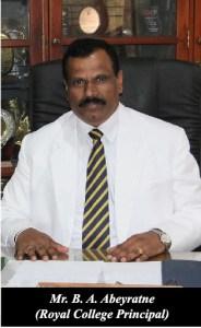 Mr. B.A. Abeyratne, Principal Royal College, Colombo