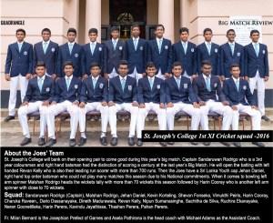 St. Joseph's College 1st XI 2016